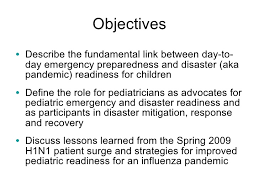 pediatric emergency readiness and pandemic influenza