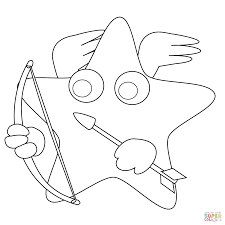 smiling star coloring page free printable coloring pages