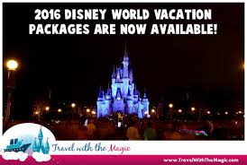 2016 walt disney world vacation packages now available