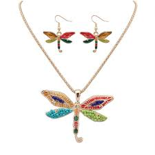Unique Dragonfly Gifts Dragonfly Necklace U0026amp Earrings Promotion Shop For Promotional