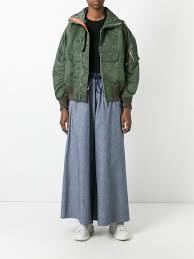 sacai luck sacai drawstring chambray trousers 041 navy women clothing high