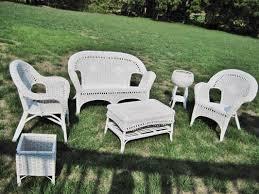 White Wicker Outdoor Patio Furniture - wonderful white wicker patio furniture resin chairs for modern k
