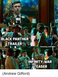 Funny Panthers Memes - black panther trailer infinity war teaser andrew gifford meme on