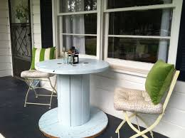 Cable Reel Chair The Thousand Opportunities Of Diy Cable Spool Upcycling Homeyou