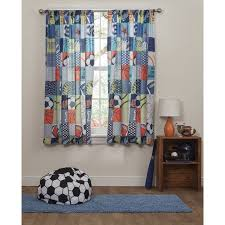 Walmart Mainstays Curtains Mainstays Kids Play Like A Champion Sports Curtains Set Of Two