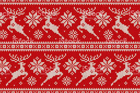 christmas pattern knit fabric winter holiday seamless knitted pattern with christmas reindeer and