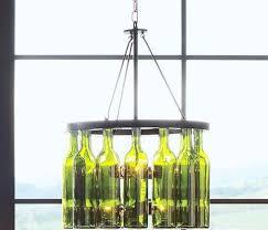 Wine Bottle Light Fixtures Upcycled Bottle Decorations Wine Bottle Chandelier
