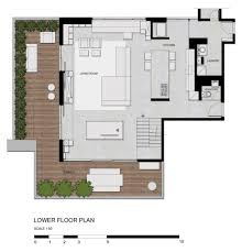Modern Architecture Floor Plans Architecture Rr House Design By Studio Guilherme Torres Modern