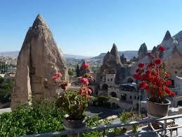 a view from my cave hotel in beautiful goreme capadoccia region