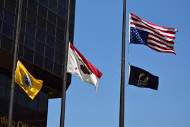 American Flag Upside Down Flags Flown Inverted Outside City Hall Is San Bernardino In