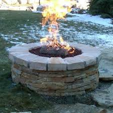 Backyard Campfire Fire Glass Asphalt Materials