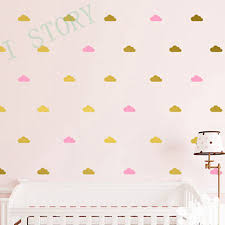 White Wall Decals For Nursery by Aliexpress Com Buy Gold Cloud Wall Decal Stickers White Cloud