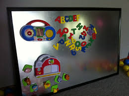 DIY Magnetic Board Embe - Magnetic board for kids room