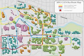 Michigan State Campus Map Charlene Arney Pastwork