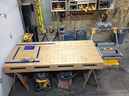 portable track saw table luke s garage shop the wood whisperer