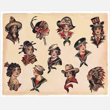 58 best vintage tattoo flash images on pinterest draw