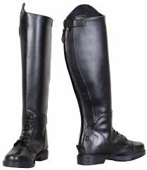 ladies leather motorcycle boots tuffrider ladies starter back zip field boots in synthetic leather