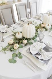 thanksgiving white pumpkin tablescape fashionable hostess