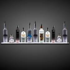 led lighted bar shelves amazon com 3 wall mounted led liquor shelf with wireless rf remote
