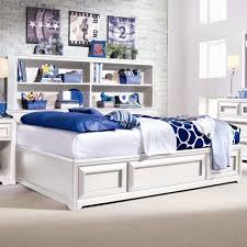 Full Bookcase Elite Reflections Full Bookcase Platform Bed With Underbed