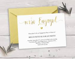 rose gold engagement invitation template we u0027re engaged