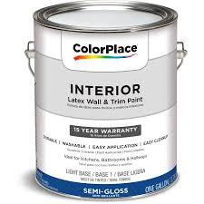 colorplace interior paint semi gloss lb 1 gal walmart com