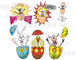 happy easter vector card clipart eps ai cdr png jpg easter
