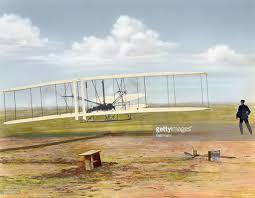 illustration of wright brothers u0027 first motor propelled flight