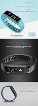 blood pressure bracelet images G15 bluetooth 4 0 smart bracelet heart rate monitor blood pressure jpg
