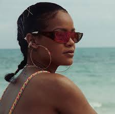 real hair rihanna reveals real hair in braid style while on