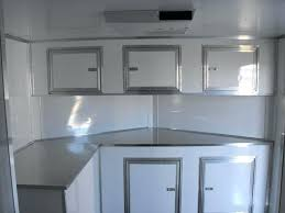 race car trailer cabinets cargo trailer cabinets base and overhead cabinets with the generator