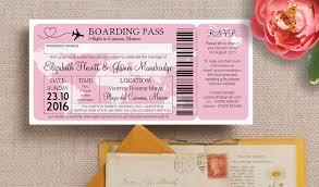 boarding pass wedding invitations boarding pass travel themed wedding invitation from 0 85 each