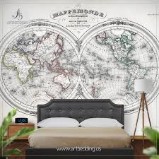 products tagged antique world map hemisphere 1846 wall mural self adhesive peel stick photo