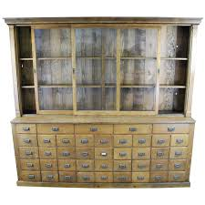 Landon Desk With Hutch Oak by 1900 Oak Mercantile Apothecary Cabinet At 1stdibs