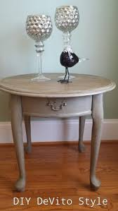 queen anne style end table painted in annie sloan chalk paint