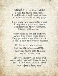 caregiver daycare poem print daycare provider by 7paperhouses to