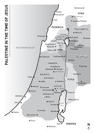 Map Of Israel In Jesus Time Companion To The New Testament New English Bible Acts Of The