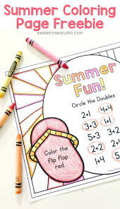 summer coloring page freebie sweet rose studio
