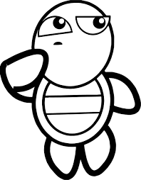 thinking tortoise turtle coloring page wecoloringpage