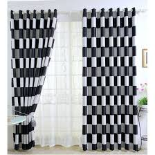Black And White Blackout Curtains Black And Silver Curtains Pencil Pleat Lined Curtains White Black