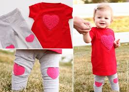 shaggy heart valentine u0027s dress with heart knee pad leggings made