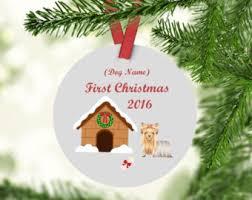 couple ornament couple christmas ornament dog