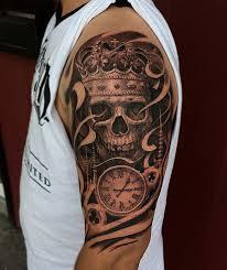 skull king and half sleeve amazing ideas