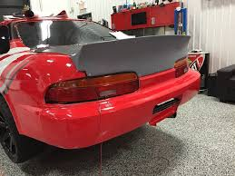 lexus sc400 red toyota soarer lexus sc 91 00 ducktail wing wideworks scale