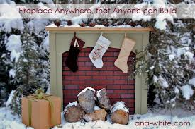 Fake Outdoor Fireplace - ana white fireplace anywhere diy projects