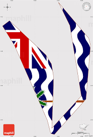 Single Flag Flag Simple Map Of British Indian Ocean Territory Flag Rotated