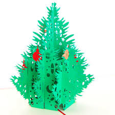 aliexpress com buy red 3d merry christmas tree 3d laser cut pop