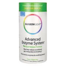 rainbow light advanced enzyme system rainbow light advanced enzyme system 180 veg caps swanson health