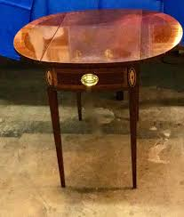 council craftsman federal style mahogany drop leaf table dealer