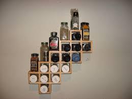 Kitchen Display Ideas Tasteful Kitchen Spice Wall Rack Design Ideas Playuna